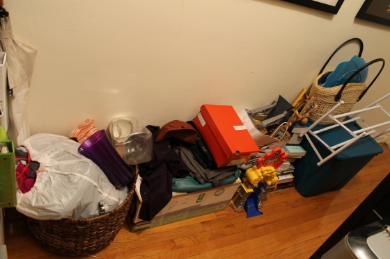 It is so embarrassing how much junk we have amassed over the years, but that much more satisfying when we outbox it!