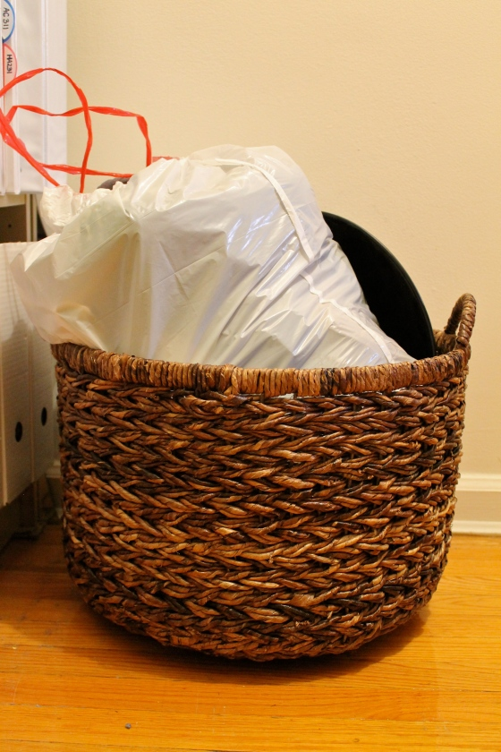 The outbox after the first purge...you cannot even see the basket anymore...at all