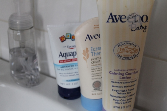 Three different lotions/creams