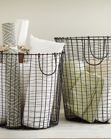 Garnet Hill wire baskets