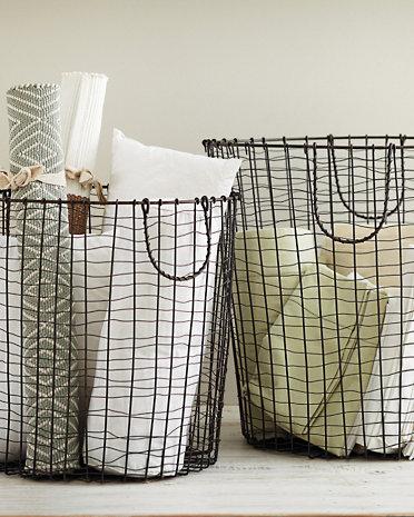 Garnet Hill wire baskets